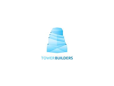 Tower builders logo concept illustration icon branding typography logo concept web vector minimal app design