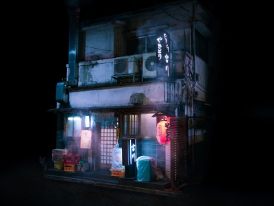 Isolated Izakaya photography photoshop
