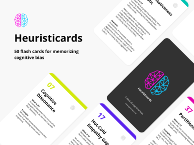 Heuristicards - Flash cards for cognitive bias