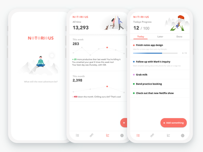 Notorious fun icon simple sketch concept vector dailyui mobile minimal animation ui app design