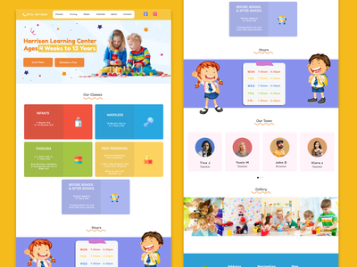 HCL  LANDING PAGE learning center classes toys school pre school waddlers toddlers academy kids kindergarten learning child care