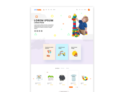 itsy landing page design concept