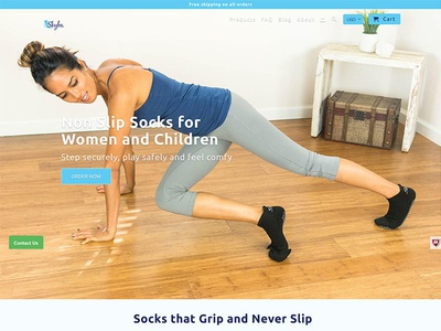 Skyba shopify expert ux ui design web design website shopify e-commerce socks