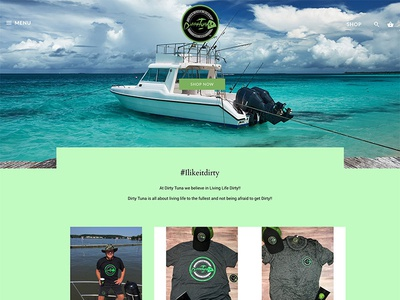 Dirty Tuna boat apparel website design webdesign ecommerce shopify