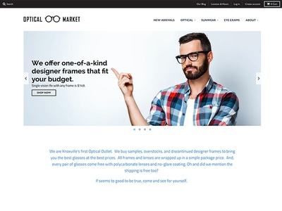 Optical Market optical glasses website webdesign design ecommerce shopify