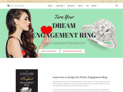 Mint Diamonds online store web design mint shopify jewelry