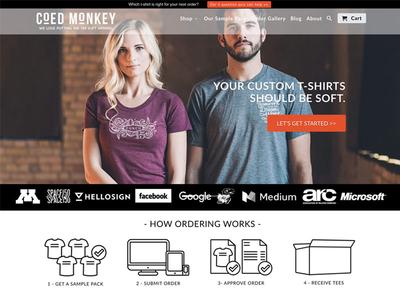 Coed Monkey print web design online store shopify t-shirt