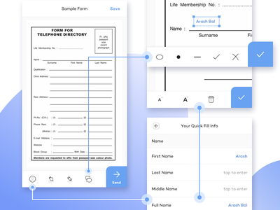 Edit the form fax mail highlight document ui shapes signature text edit layout fill form