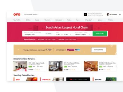 OYO Homepage - Web