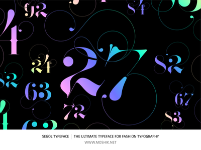 Segol Typeface | The Ultimate Typeface For Fashion Typography logos numbers ampersand ligatures fonts moshik nadav font logotype logo typography fashion typeface