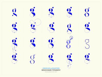 Lowercase g collection by Moshik Nadav Typography logotype beautiful fonts fashion logos logo design fashion magazine fonts vogue fonts sexy g best fonts 2021 must have fonts sexy fonts fashion typography fashion fonts