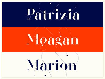 Names. Made with the new Segol Typeface. typeface design moshik nadav sexy fonts fashion logos fashion fonts