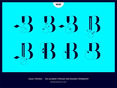 Segol Typeface Alternate B by Moshik Nadav Typography fashion font