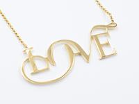 14k Love Necklace by Moshik Nadav Typography