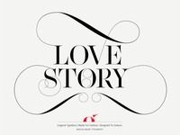 Love Story Lingerie Typeface by Moshik Nadav Typography