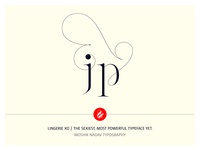 jp Lingerie XO Typeface Ligatures by Moshik Nadav Typography