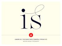 Is Lingerie Xo Ligatures by Moshik Nadav Typography