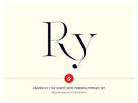 Ry Ligature Made with Lingerie XO By Moshik Nadav Typography