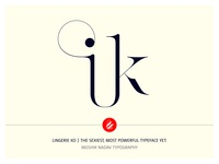 ik Ligature Made with Lingerie XO By Moshik Nadav Typography