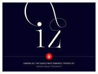 Iz Ligature Made With Lingerie Xo By Moshik Nadav Typography