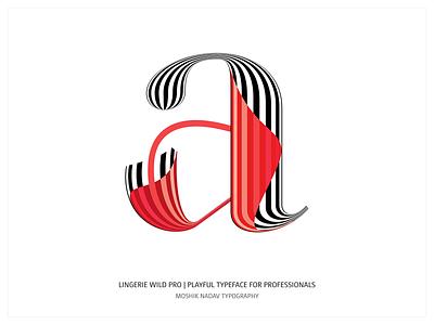 Lingerie Wild Pro - Playful Typeface For Professionals ligatures type fonts moshik nadav font logo logotype typography fashion typeface