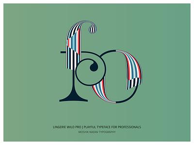 Lingerie Wild Pro - Playful Typeface For Professionals lingerie wild pro ligatures type fonts logo moshik nadav font logotype typography fashion typeface