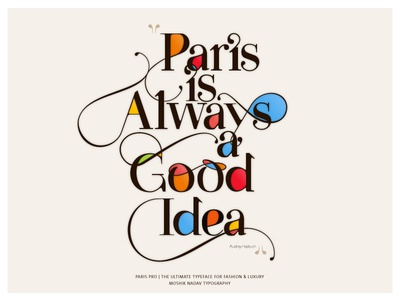 Made With The New Paris Pro Typeface By Moshik Nadav By