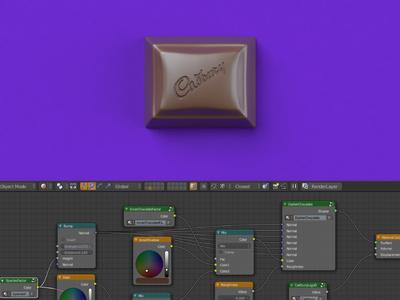 Makin' Chocolate food hellomotion blender 3d cadbury render chocolate