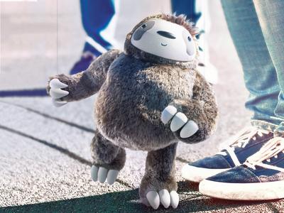 Sloth cg fur character art content creation 3dart puppet sloth marionette render 3dsmax lighting modeling texturing design 3d animation