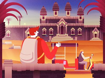 Temple Trip tuk tuk journey travelling cambodia asia temple