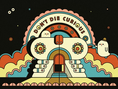 Don't Die Curious dont die curious illustration music ghosts