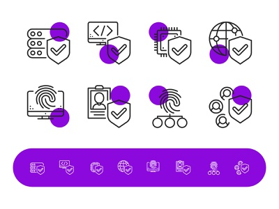 Security Icons website icons vector artwork social line icons shield computer security adobe illustrator flat icon vector illustration