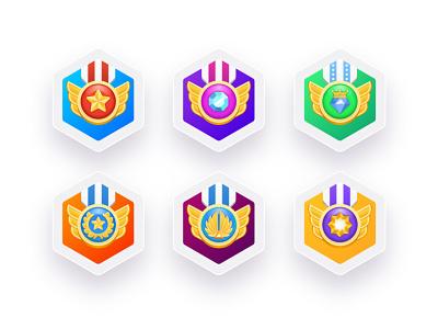 Medals ux vector artwork 3d graphic design gradient vector illustration awards uiux ui app award gold medals