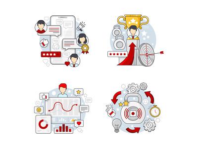 MoFit Illustrations line art gym app graphic fitness fitness app gym design vector artwork adobe illustrator flat graphic design vector illustration