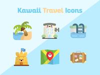 Kawaii Travel Icons