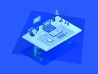 Workstation Illustration