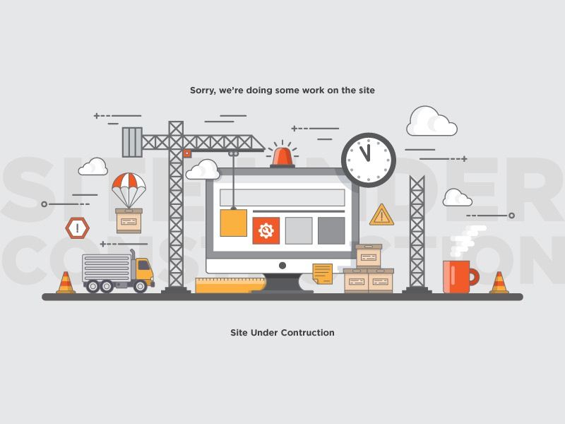 Site Under Construction Graphic by Boris Garic🎨 on Dribbble