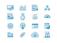 Growth Analytics Marketing Icons No. 2