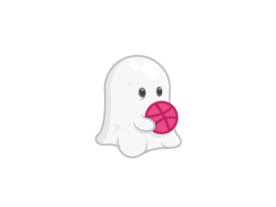 Cute Ghost Sticker graphic  design design757 art icon ghost party illustraion scary halloween spooky sticker rebound ghost