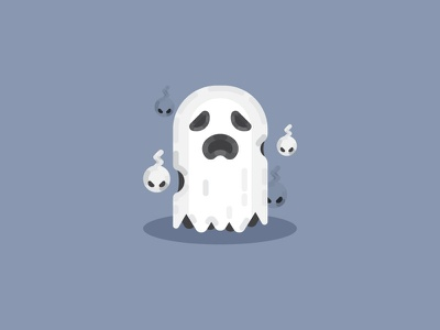 Spooky Spirits artwork boo scary halloween graphic design vector art flat design art ghost party vector adobe illustrator cc spirit illustration spooky icon set icon ghost