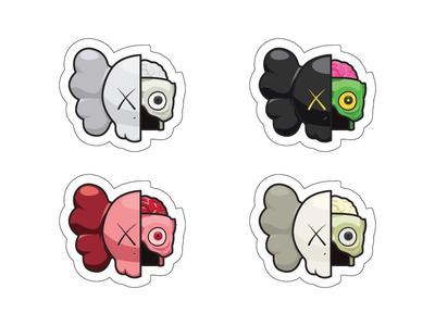 KAWS Half Face Sticker Set