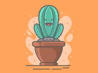 Happy Cactus Illustration