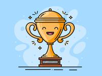 Happy Trophy Illustration