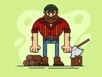Lumberjack character