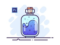 01 Potion Bottle - Adobe Photoshop