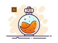 02 Potion Bottle - Adobe Illustrator