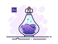 03 Potion Bottle - Adobe After Effects