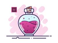 04 Potion Bottle - Adobe InDesign