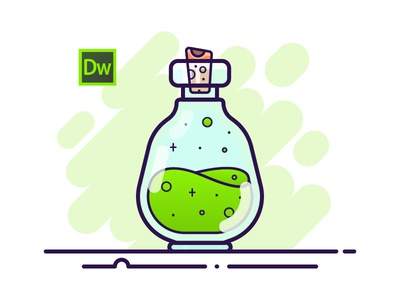 07 Potion Bottle - Adobe Dreamweaver