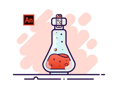 13 Potion Bottle - Adobe Animate